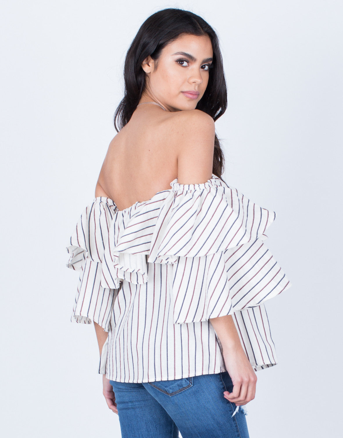 Flowy Draped Blouse - 2020AVE
