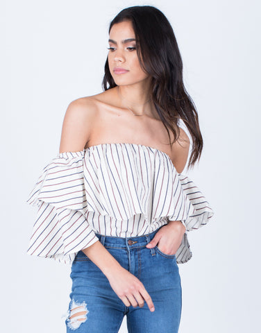 Flowy Draped Blouse