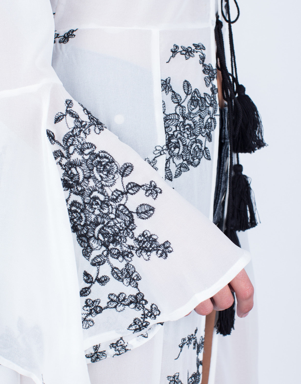 Flowy Embroidered Duster