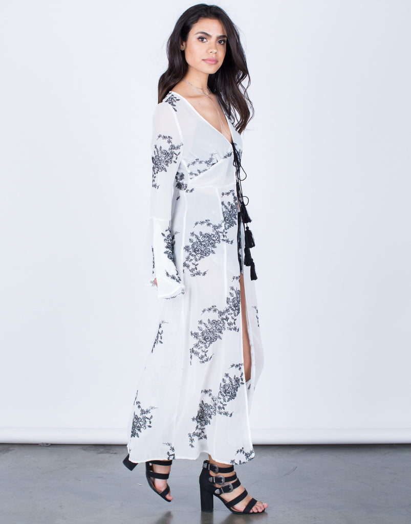 Flowy Embroidered Duster - 2020AVE