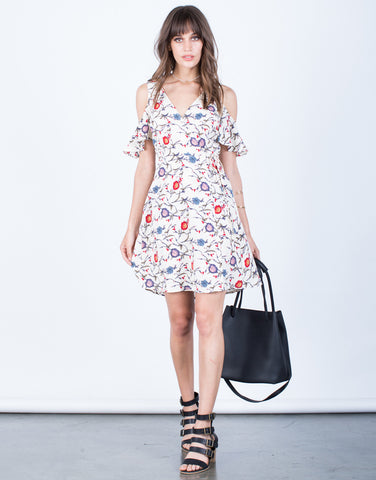 Front View of Flowy Floral Dress