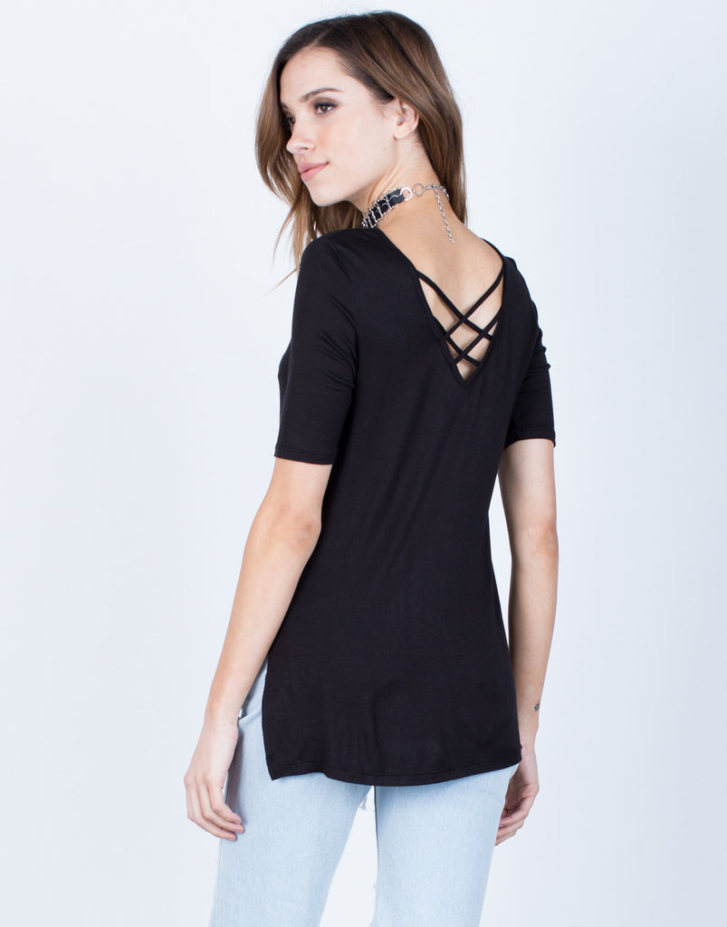 Back View of Flowy Lightweight Tee
