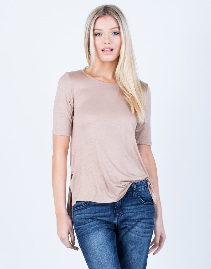 Front View of Flowy Lightweight Tee