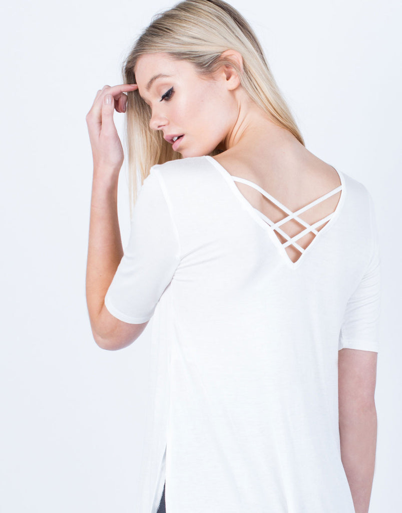 Detail of Flowy Lightweight Tee
