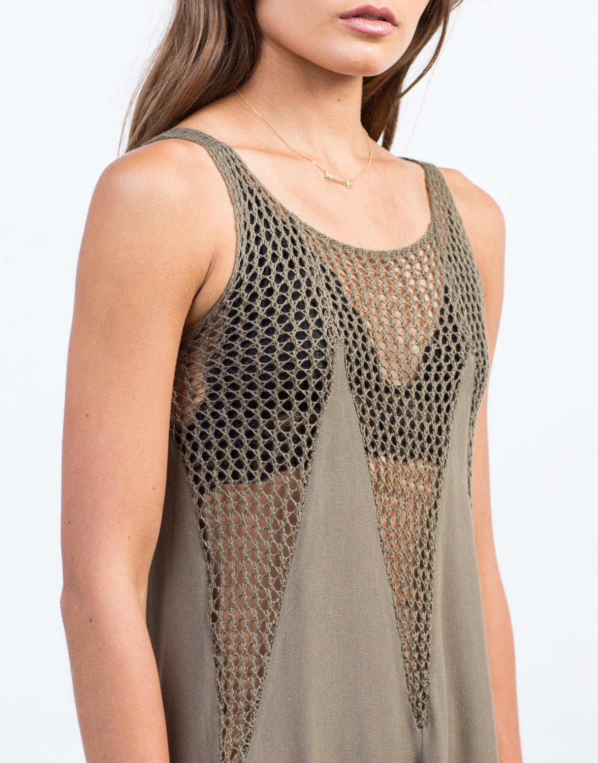 Detail of Flowy Netted Day Dress