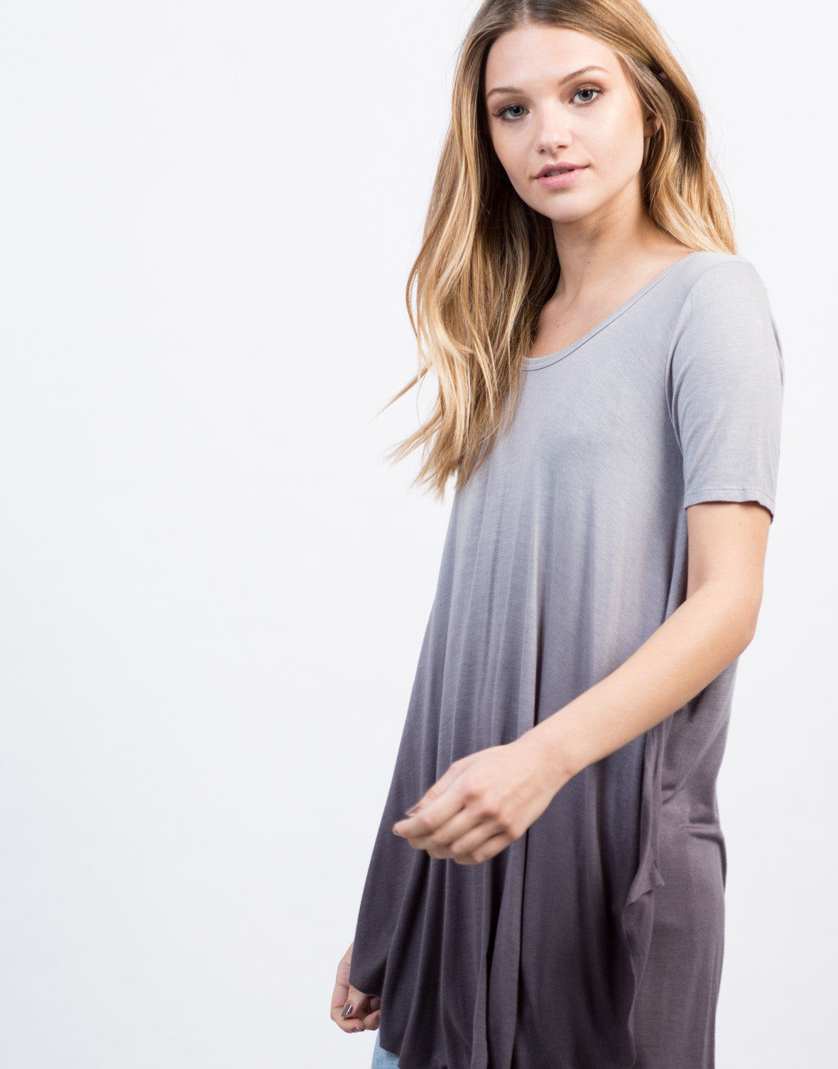 Detail of Flowy Ombre Tunic Top