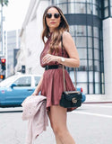 Flowy Pleated Romper