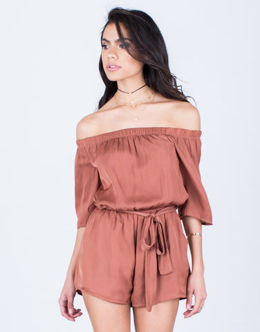 Flowy Satin Romper - 2020AVE