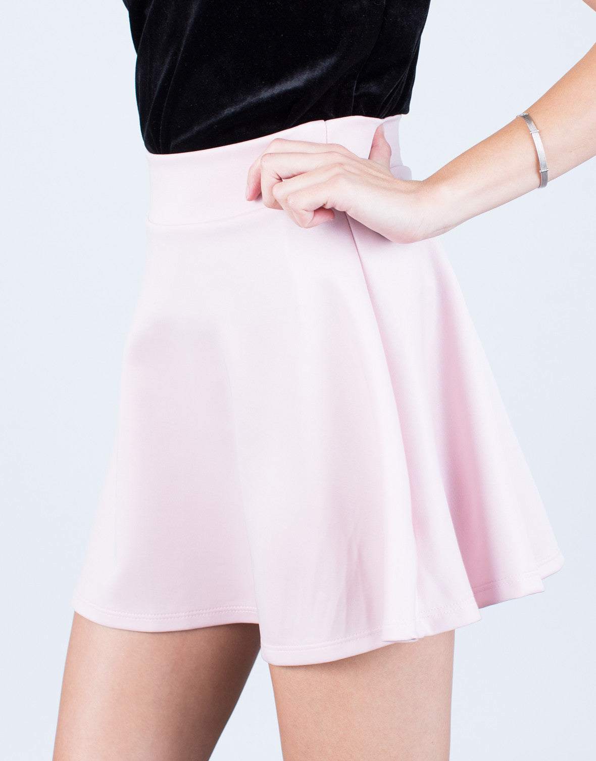 Detail of Flowy Skater Skirt