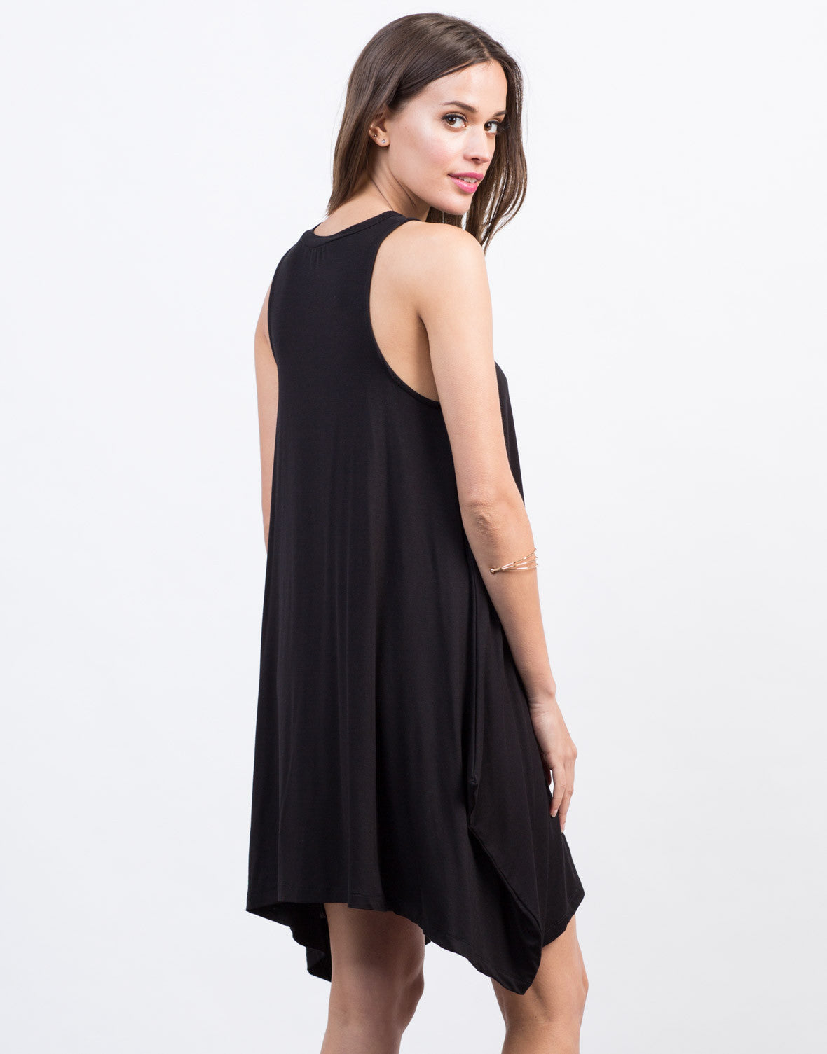 Back View of Flowy Sleeveless Dress