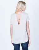 Back View of Flowy Striped Tee