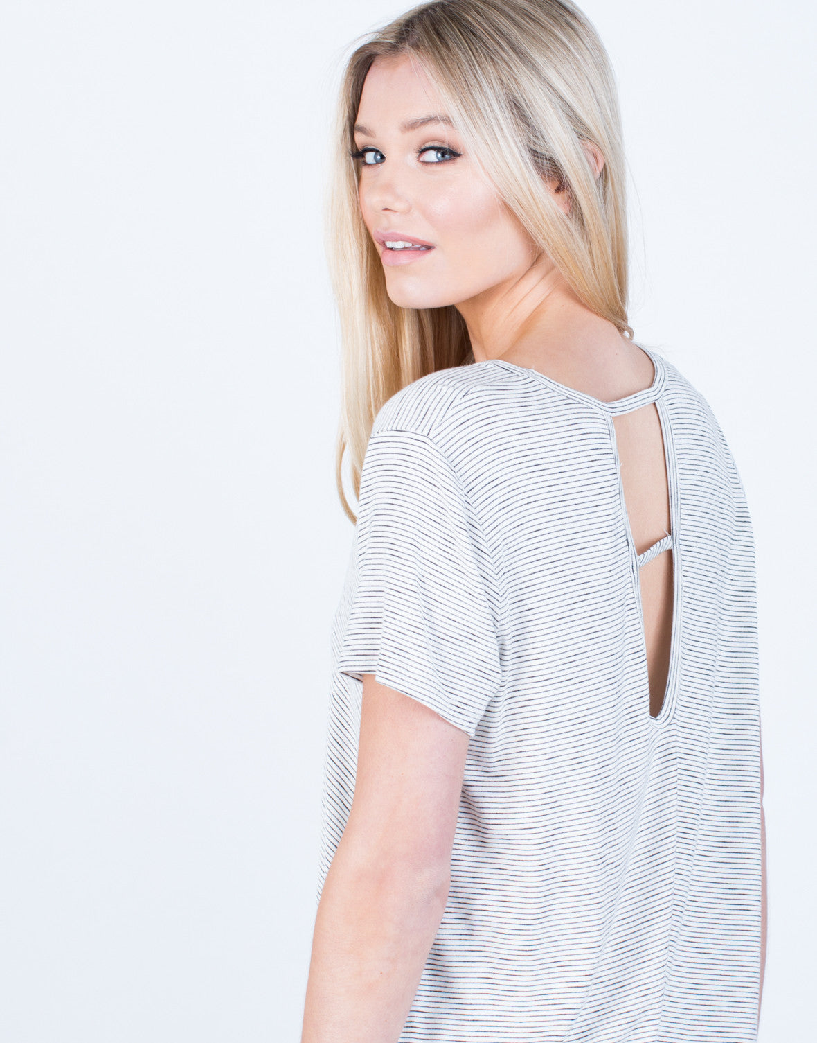 Detail of Flowy Striped Tee