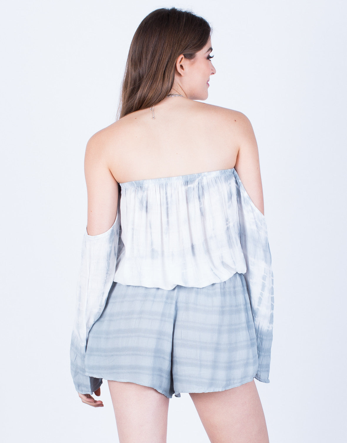 Back View of Flowy Tie-Dye Romper