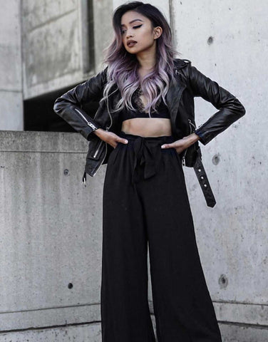 Flowy Wide Leg Pants - Blogger Pau Dictado