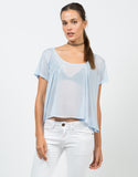 Front View of Flowy Chiffon Blouse