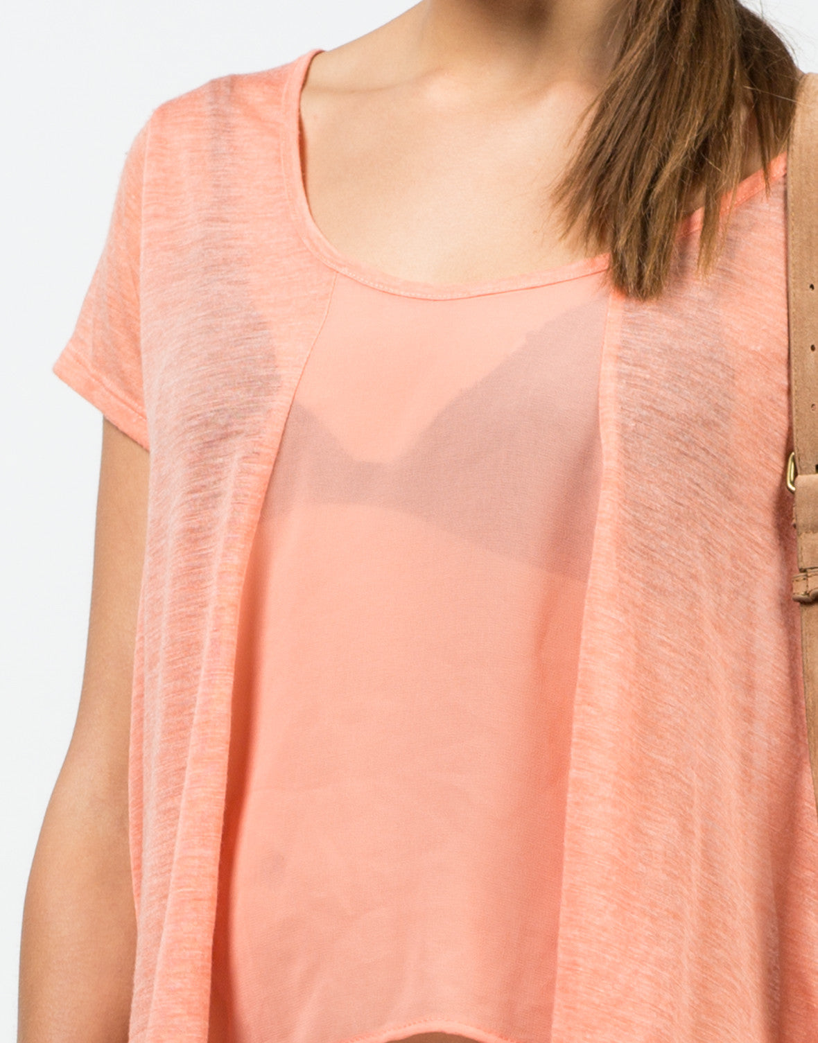 Detail of Flowy Chiffon Blouse