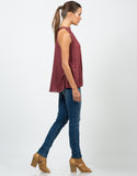 Side View of Flowy Halter Neck Top