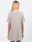 Back View of Flowy Lined Shirt Dress
