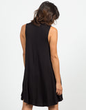 Back View of Flowy Mock Neck Dress