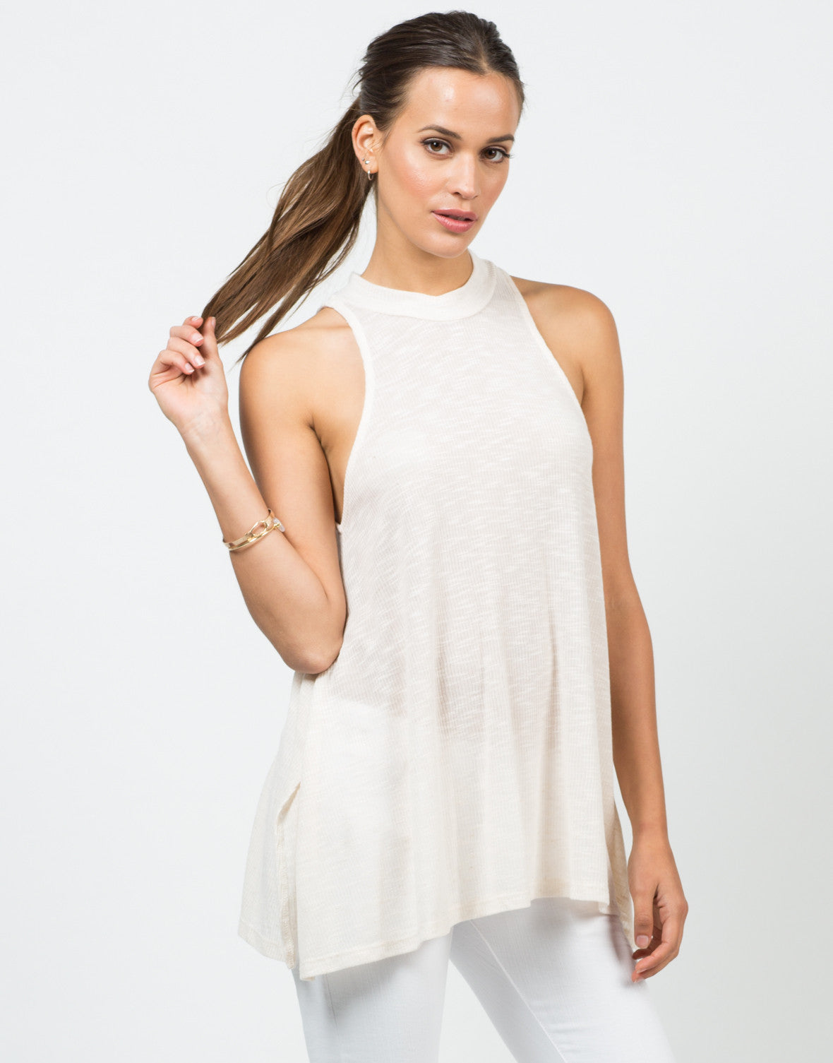 Flowy Mock Neck Tank