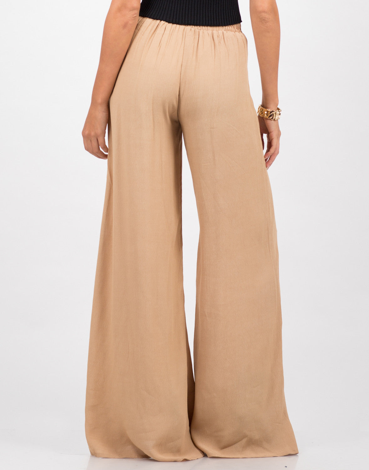 Back View of Flowy Palazzo Pants