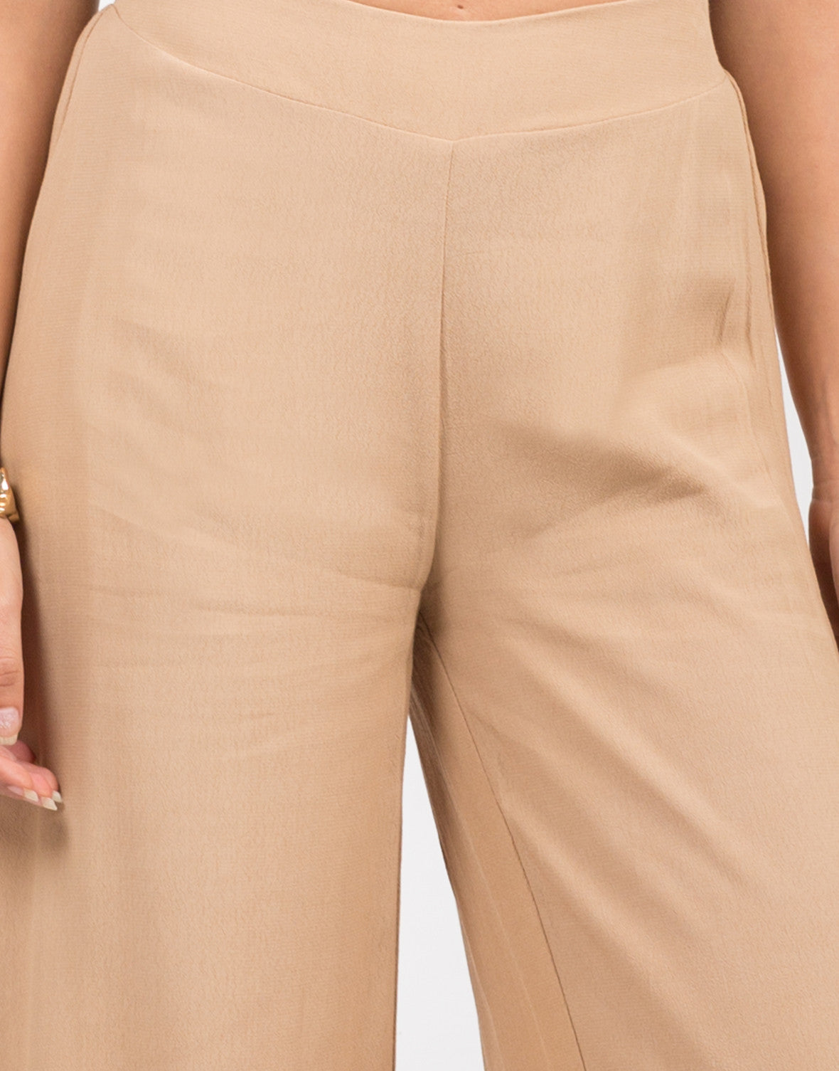 Detail of Flowy Palazzo Pants