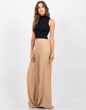Side View of Flowy Palazzo Pants