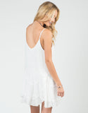Back View of Flowy Stitched Cami Dress