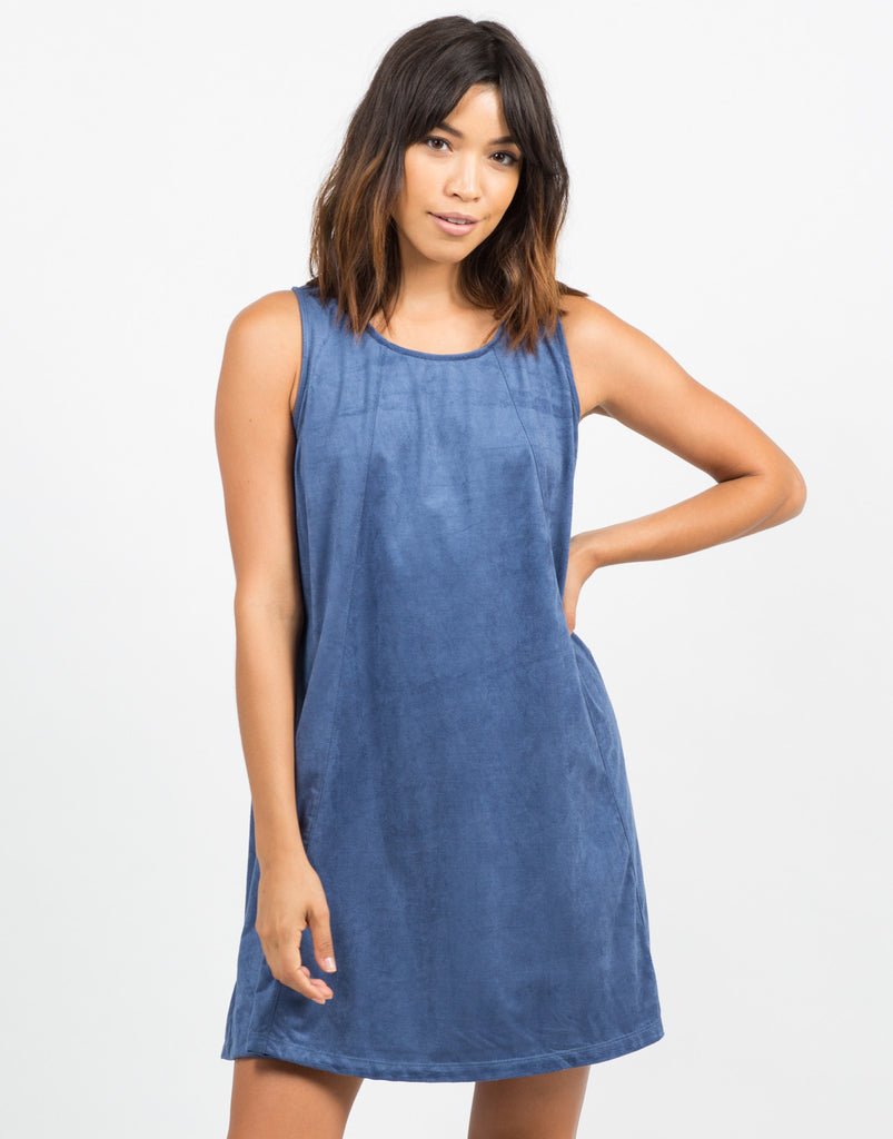 Flowy Suede Dress - 2020AVE