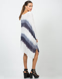 Back View of Flowy Tie-Dye Tunic Top