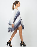 Side View of Flowy Tie-Dye Tunic Top