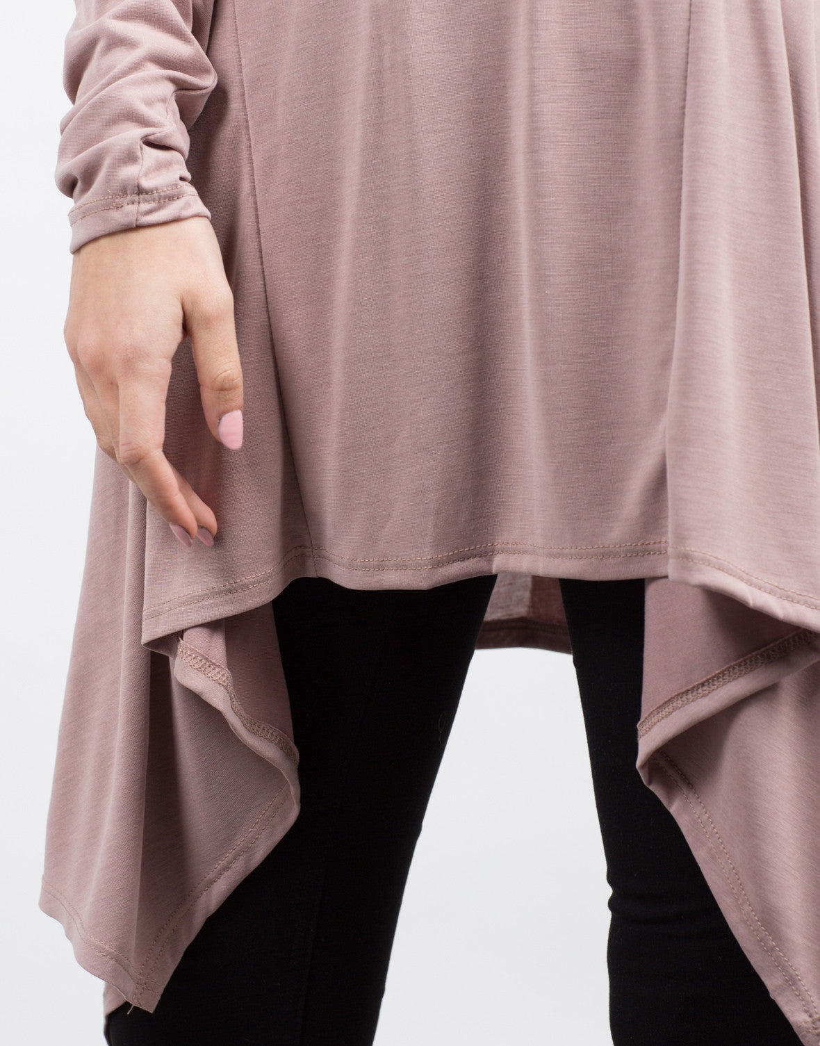 Detail of Flowy Tunic L/S Tee