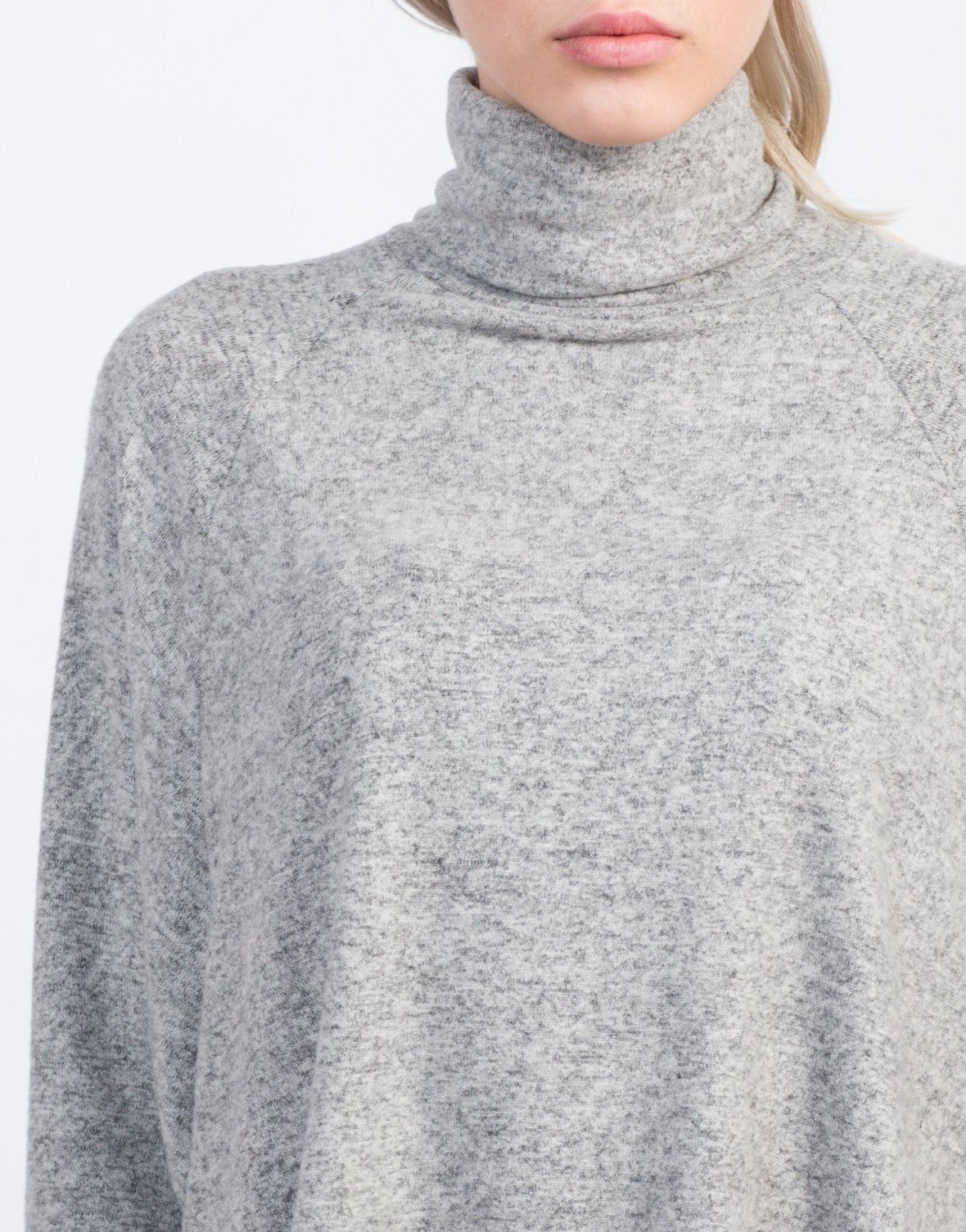 Detail of Flowy Turtleneck Top