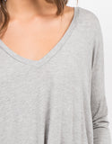 Detail of Flowy V-Neck Long Sleeve Tee