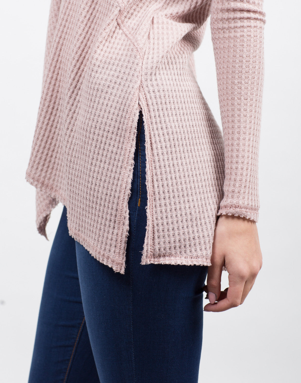 Detail of Flowy Waffle Long Sleeve Tee