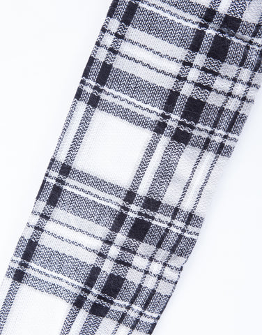 Fluffy Plaid Blanket Scarf