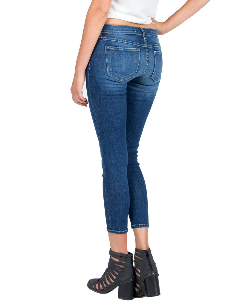 Flying Monkey - Cropped Lightly Distressed Skinny Jeans - 2020AVE