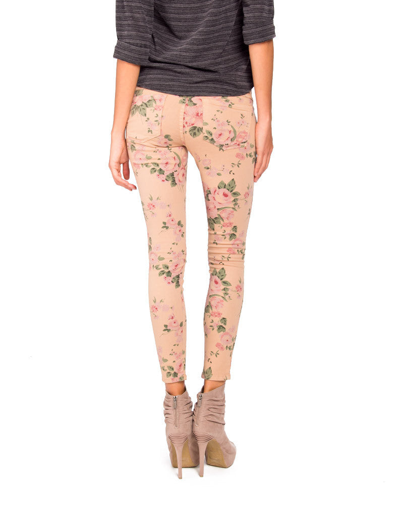 Flying Monkey L7429 Floral Jeggings - 9 - 2020AVE