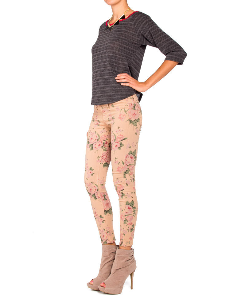 Flying Monkey L7429 Floral Jeggings - 9