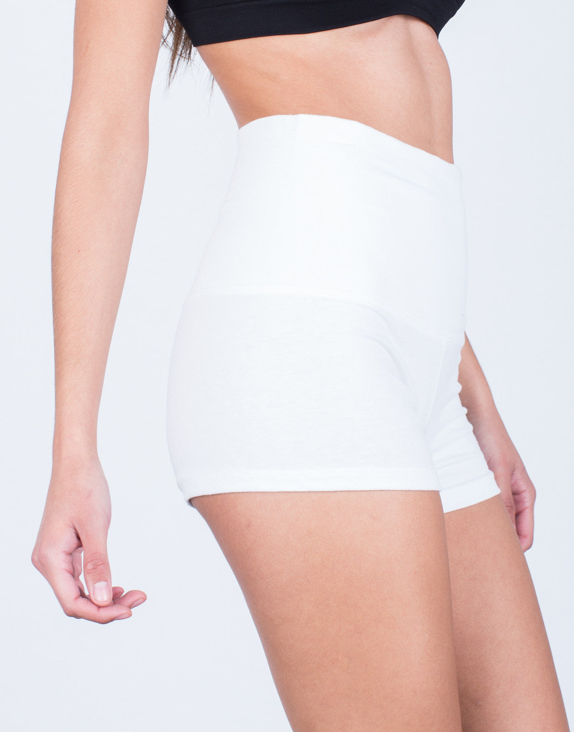 Detail of Foldover Workout Shorts