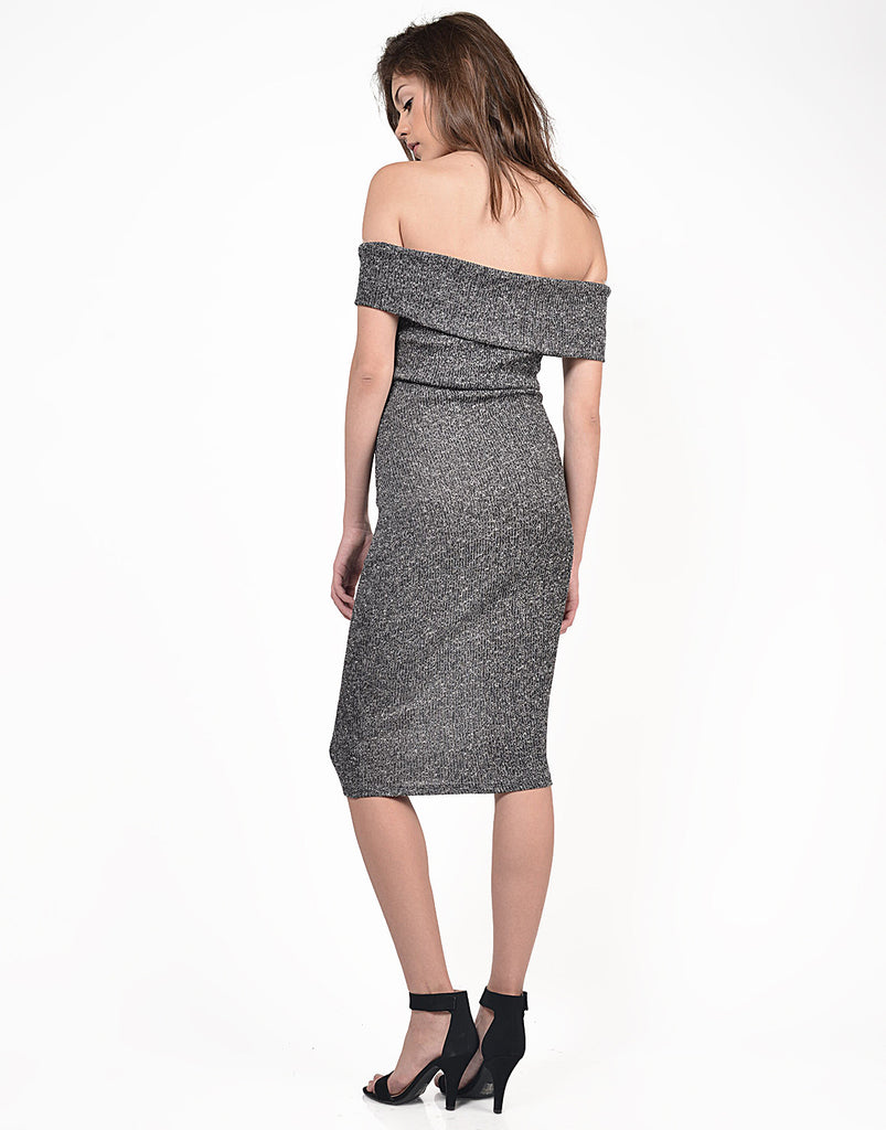 Fold Over Strapless Midi Dress - 2020AVE