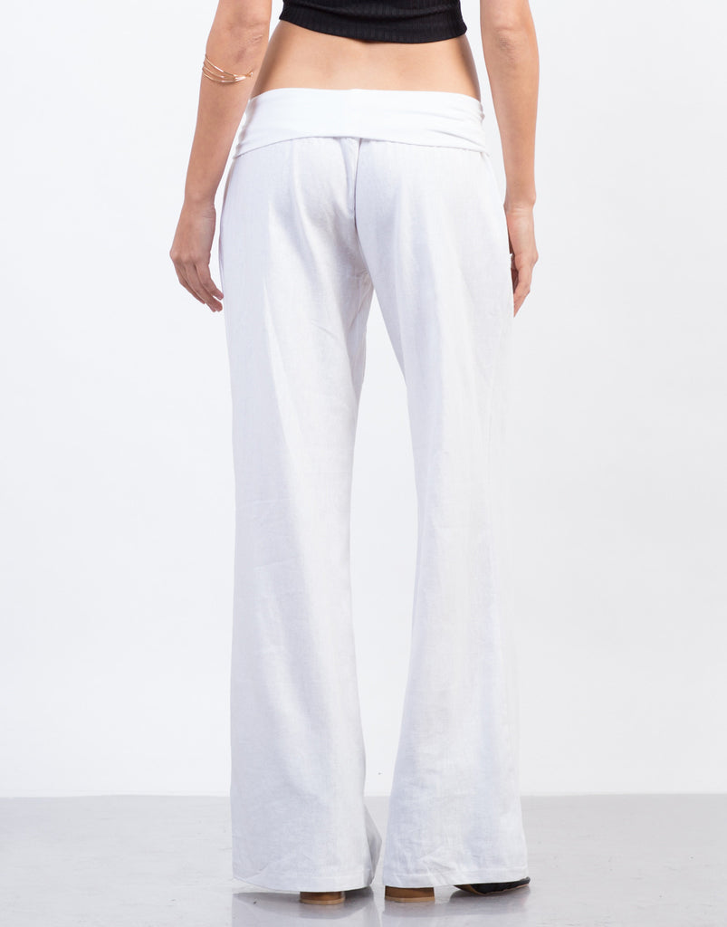 Fold Over Super Flared Pants - 2020AVE