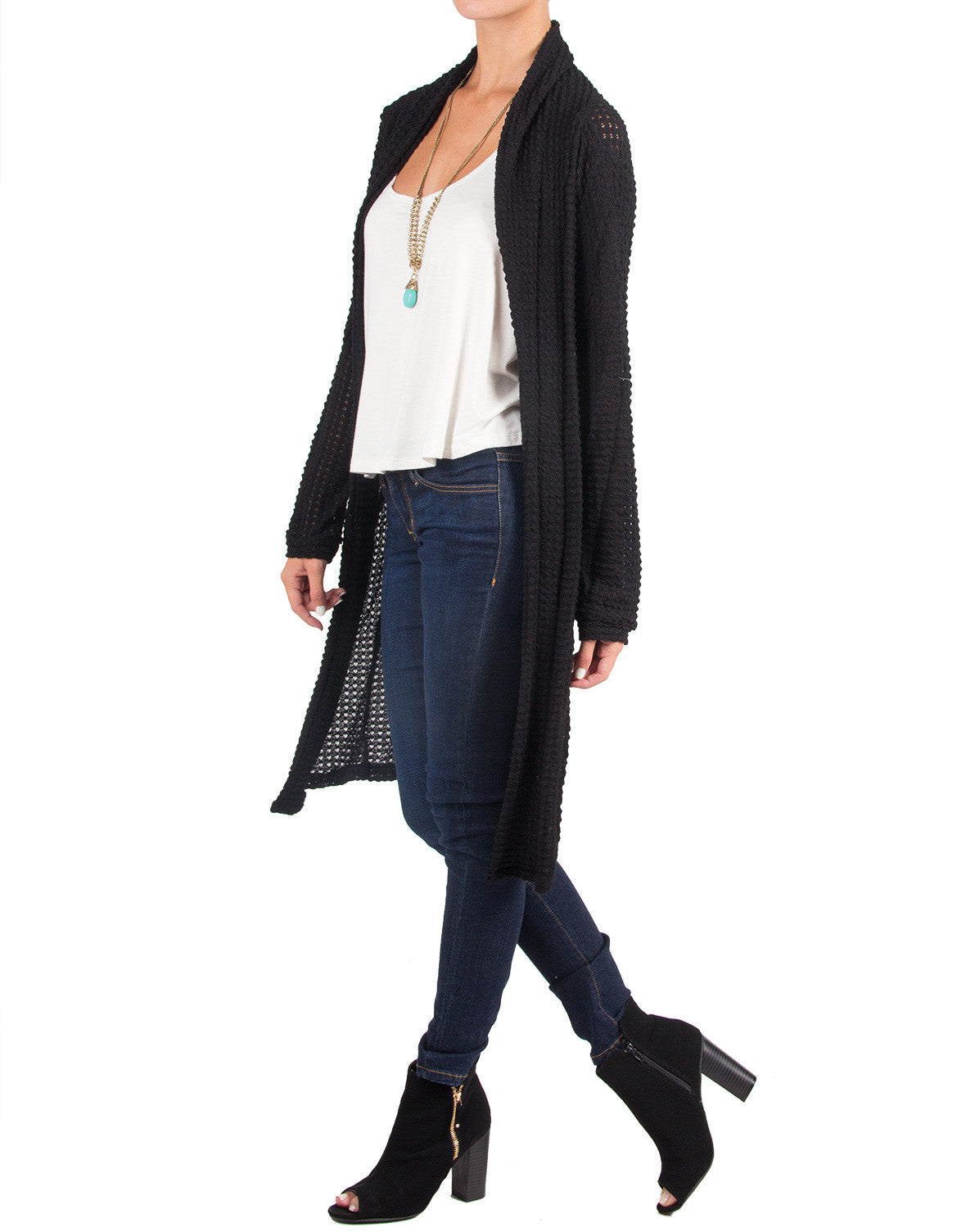 Follow Me Cardigan - Honey Punch CT 4777-Black