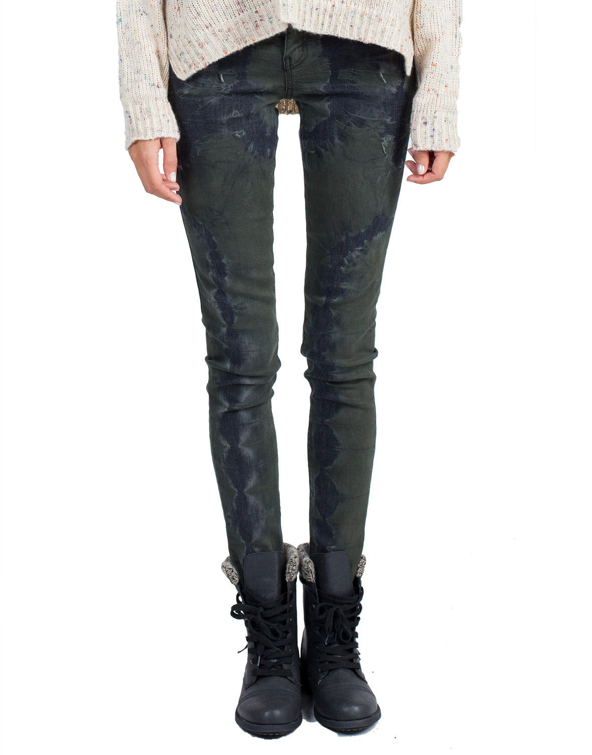 Flying Monkey Jeans - Forest Crush Denim Skinnies - 25