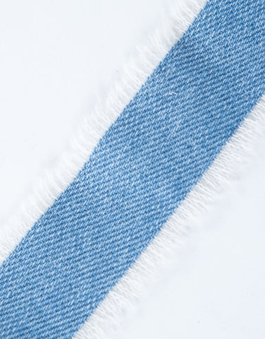 Frayed Denim Choker