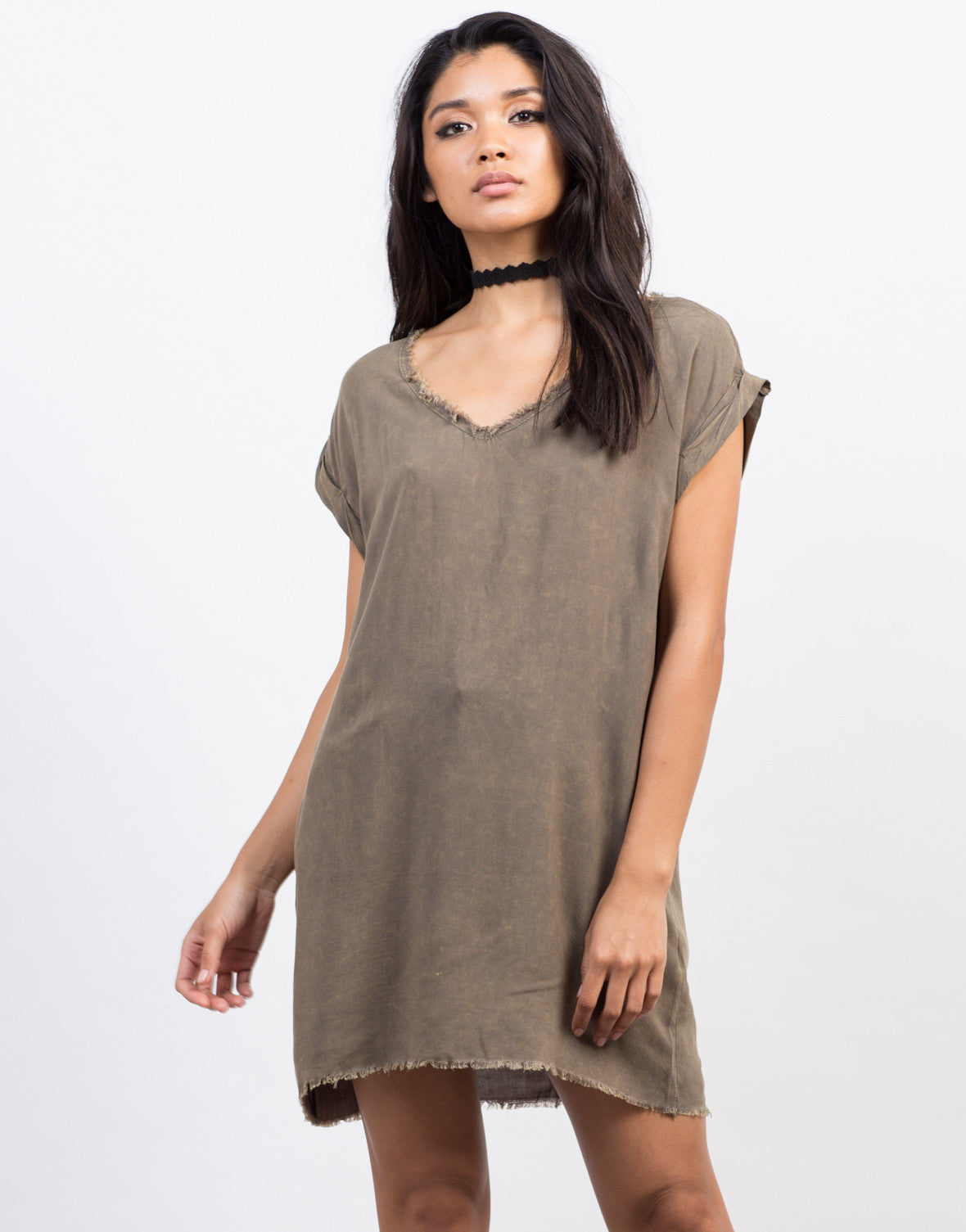 Frayed Oversize Top - 2020AVE