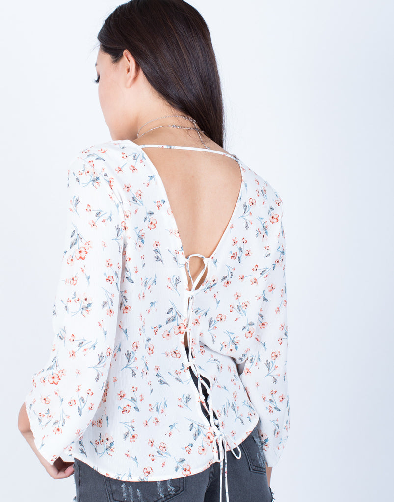 Detail of Free Flow Floral Blouse