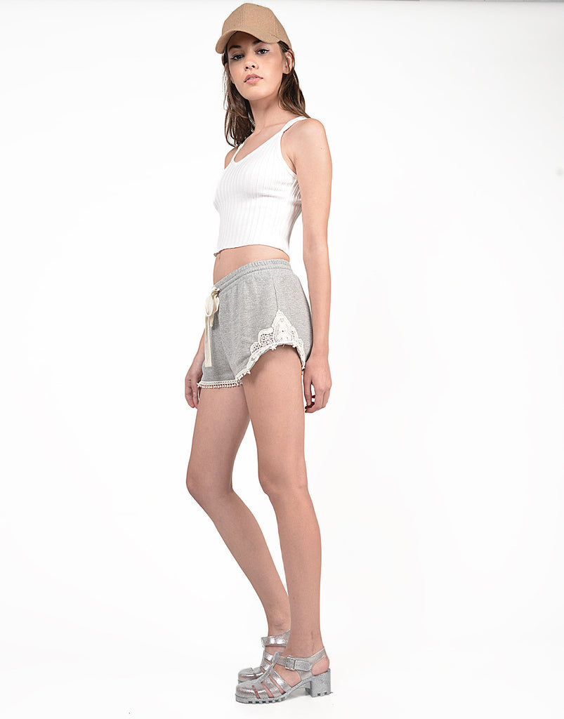 French Terry Crochet Shorts - 2020AVE