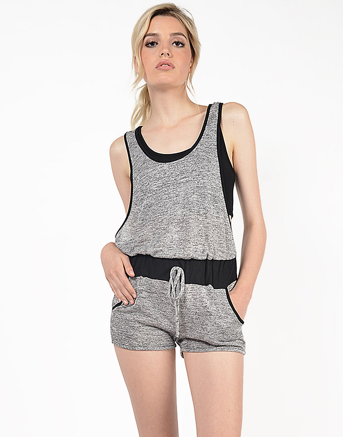 Front View of French Terry Romper