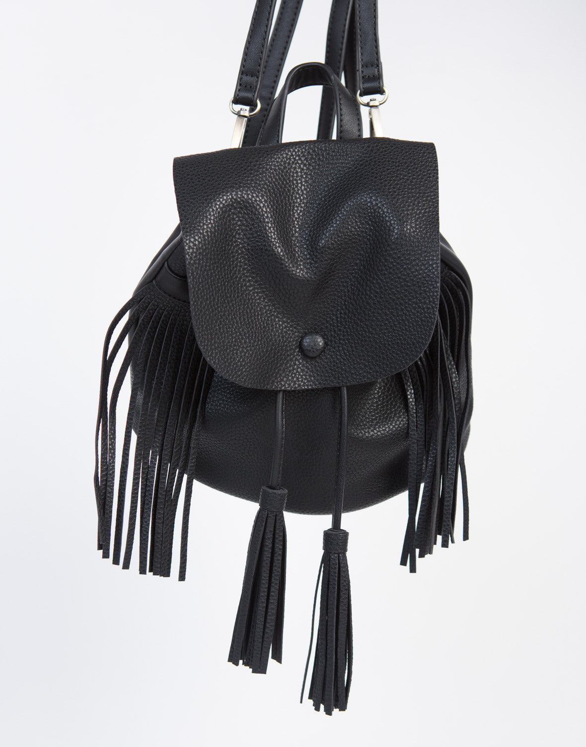 Fringe Tassel Leather Backpack